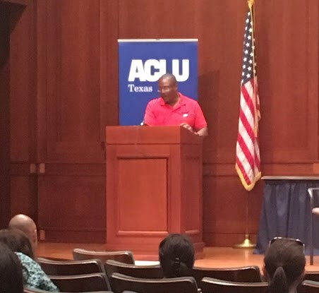 Anthony Graves, Death Row Exoneree #138, speaking at his Smart Justice Speaker's Bureau event.